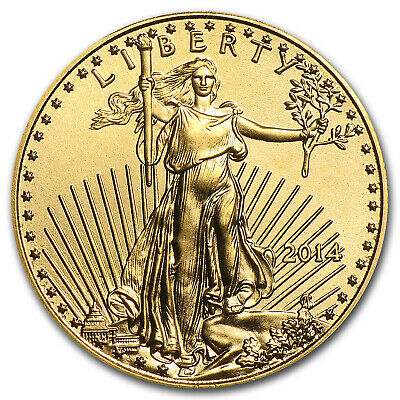 2014 1/10 oz Gold American Eagle BU - SKU #79044