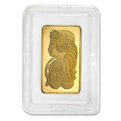 5 oz Pamp Suisse Gold Bar - Lady Fortuna - Assay Card - SKU #59448