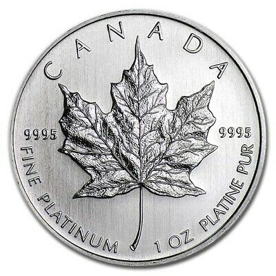 1 oz Platinum Canadian Maple Leaf Coin - Random Year Coin - SKU #60