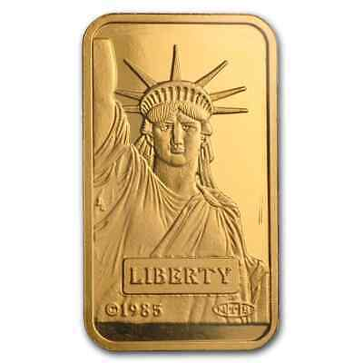20 gram Statue of Liberty Credit Suisse Gold Bar - SKU #46777