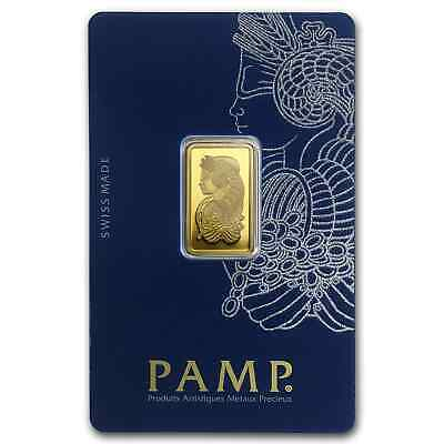 5 gram Gold Bar - Pamp Suisse Lady Fortuna Veriscan (In Assay) - SKU #82247