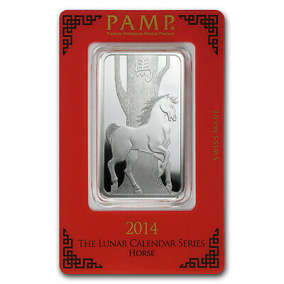 1 oz Silver Bar - PAMP Suisse (Year of the Horse) - SKU #78605