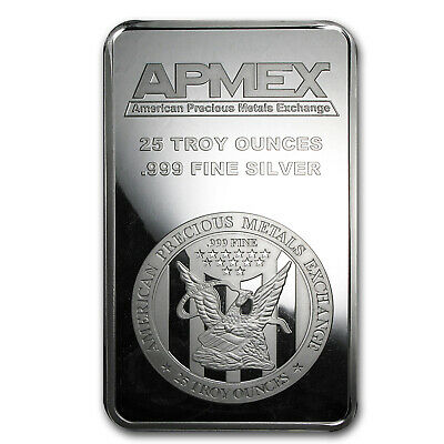 25 oz Silver Bar - APMEX (Struck) - SKU #83306