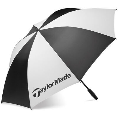 "Taylormade Golf TM Single Canopy 62"" Umbrella - Black/White"