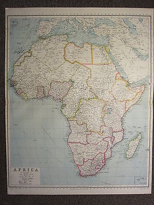 1933 Large Map ~ Africa ~ Nigeria Cameroons Ivory Coast Sierra Leone Cape Colony