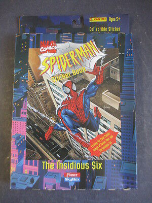 Sealed Fleer Skybox Marvel Spider-Man Insidious Six Sticker Book Set Panini 1996