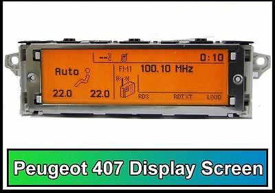 Peugeot 407 Citroen Farbdisplay Anzeige Multifunktion Screen Bordcomputer Neu