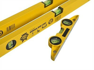 Faithfull 120cm 60cm and Pocket Level Triple Pack Accurate to ±1mm per meter