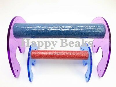 Bird Toy, Acrylic Table Perch, Perches Pick your Size - Happy Beaks