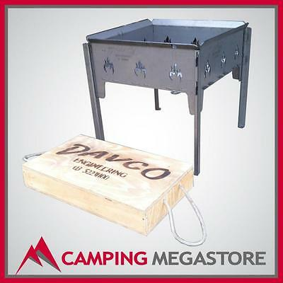 Davco Australia Steel Camp Outdoor Fire Pit *rotisserie, Camping, Portable* Med