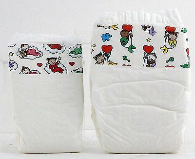 rare / Vintage pampers plastic diapers PAMPERS PHASES 2 pack 1992 abdl diaper