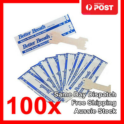100x Nasal Strips to Stop Snoring Help Breathe Right Better Anti Snore Strips M