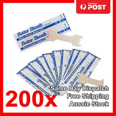 200x Nasal Strips to Stop Snoring Help Breathe Right Better Anti Snore Strips M