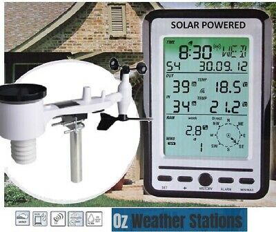 OZWeather™ Professional Weather Station with Solar Outdoor Sensor
