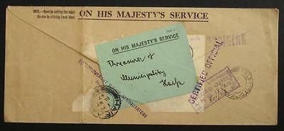 GB, Palestine 1947 Military Post, Certified  Official Cover #r308