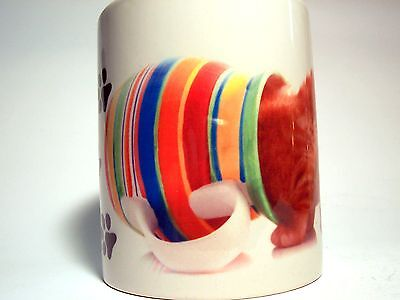 I Tre Mercanti - Tazza Mug In Ceramica - Gattino Con Testa In Vasetto