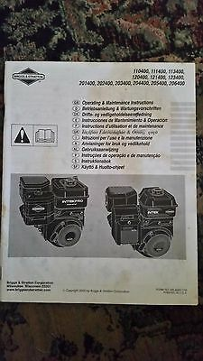 Briggs & Stratton Multiple Model Operating & Maintenance Instruction Manual