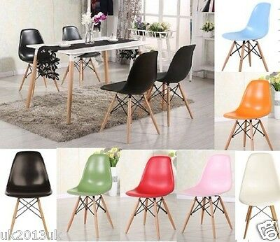 4*Wooden Chair Retro Lounge Dining Room set table chairs office chair NOT EAMES