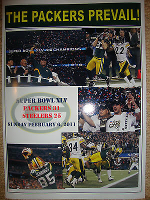 Green Bay Packers 31 Pittsburgh Steelers 25 - 2011 Super Bowl - souvenir print