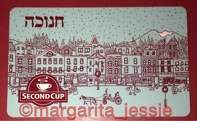 "Second Cup Coffee Co. Canada Gift Card ""happy Hanukkah"" No Value New 2014"