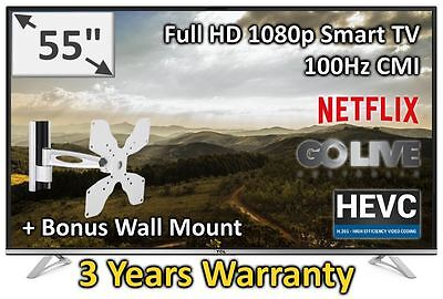 "TCL 55"" FHD Freeview Smart Netflix TV Brand New Model 55P1FS 3 years Warranty"
