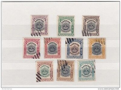 Labuan Colony 1902 Fine Used Set to 25C (10V) BC112