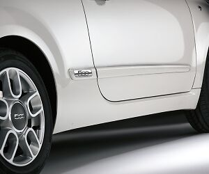 Fiat 500 Side Door Protection Mouldings New and Genuine 50901675