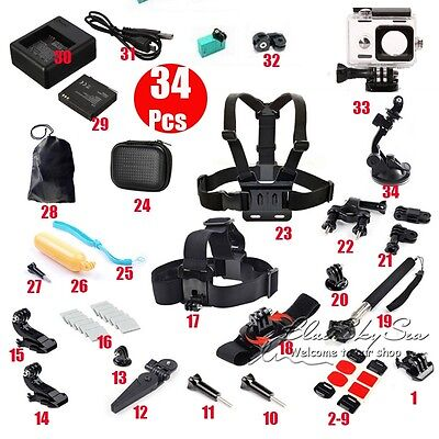 Waterproof Case Floating Mount Monopod 34 in 1 Accessories For Xiaomi Yi Camera