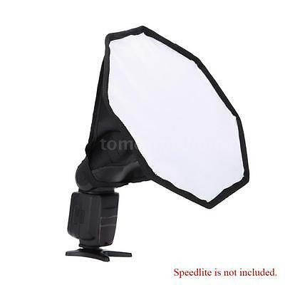 Universal Foldable Flash Diffuser SoftBox Snoot for Canon Sony Nikon Camera VD7Y