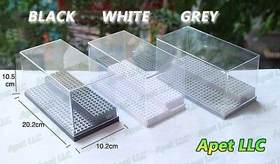 Display Box Case Plastic LEGO Dustproof Tray Protection 2 Step 3 Colour LOT