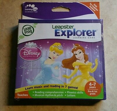 Brand New~Disney Princess~Popup Story Adventures~Leapfrog Leapster Explorer Game