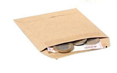 50 x  Small Brown Plain (NO PRINT) DINNER MONEY or WAGE ENVELOPES School or Work