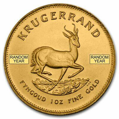 SPECIAL PRICE! 1 oz Gold South African Krugerrand Coin Random Year - SKU #85815