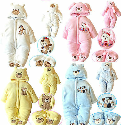 New Newborn Baby clothes Girls Boys Romper Winter Jumpsuit Thicken Cotton 0-12M