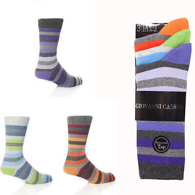 3 pairs Mens Giovanni Cassini Socks new york size 6-11