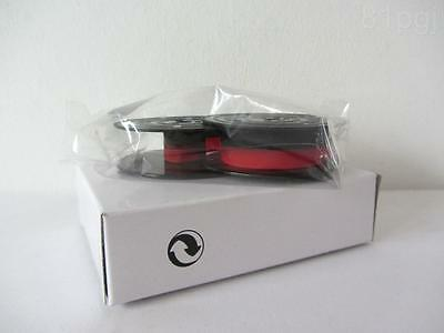 1 x 'OLYMPIA SM5' *RED/BLACK* Typewriter Ribbon TWIN SPOOL *AIR SEALED*