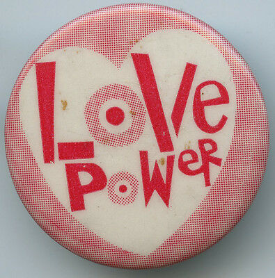 """Love Power"" Vintage 1960's Pin"