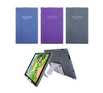 View Stand Holder + TPU Gel Skin Case Cover for Amazon Kindle Fire HD 10 2015