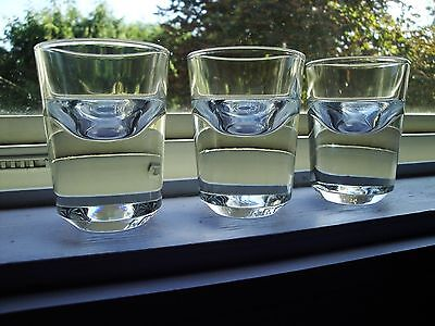 3 Absolut Shot Glasses by Konstantin Grcic Heavy! Beautiful weigh 6.25oz each!