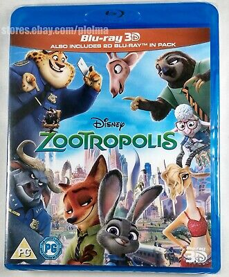 ZOOTROPOLIS (Zootopia) Brand New 3D (and 2D) BLU-RAY Movie 2016 Disney Film