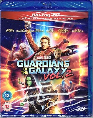 GUARDIANS OF THE GALAXY VOL. 2 New 3D BLU-RAY (and 2D) 2-Disc Set Marvel MCU Two