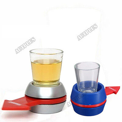 Spin The Shot Glass Drinking Game Party Shot Spinner Funny Game Prop new