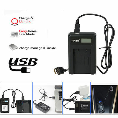 USB Battery Charger for Sony NP-F970 NP-F950 NP-F960 NP-F570 F530 NP-F550 F750