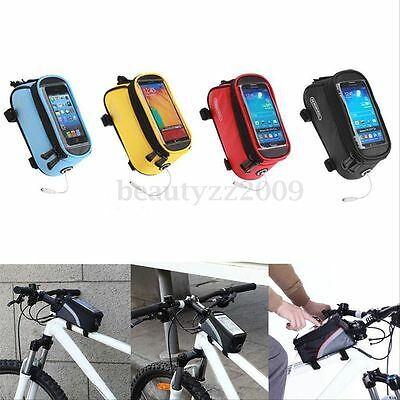 """5.5"""" Bicycle Cycling Bike Pannier Front Tube Bag Accessories For Phone Pouch"""