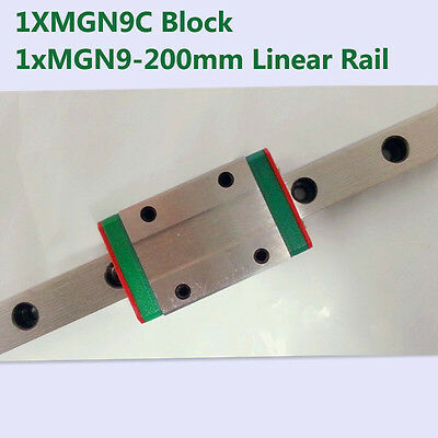 MR9 9mm linear rail guide MGN9 length 200mm with mini MGN9C linear block