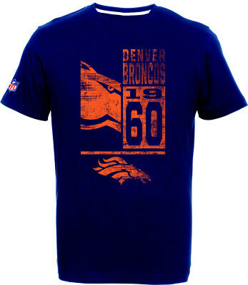 Denver Broncos T-Shirt Tee,NFL Football,100% BW,Logo,Team,from Majestic