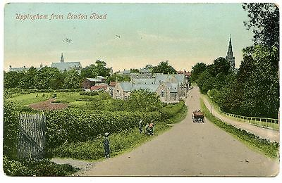 Old Rare Postcard Uppingham From London Road Rutland Dated 1909 (Ref: AK289)
