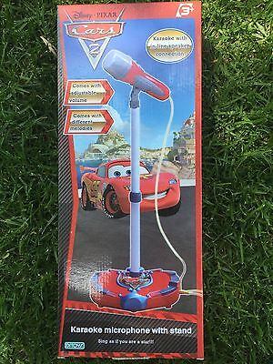 New Disney Pixar Cars 2 Karaoke Microphone With Stand Age 3+ Kids Toy Ditoys