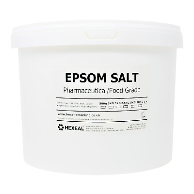 EPSOM BATH SALTS | 10KG BUCKET | Pharmaceutical/Food Grade | Magnesium Sulphate