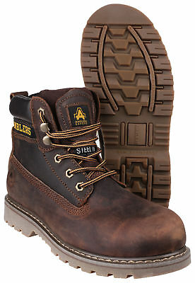 Amblers FS164 Brown Leather Lace Up Safety Work Boots Steel Toe & Midsole 4-13